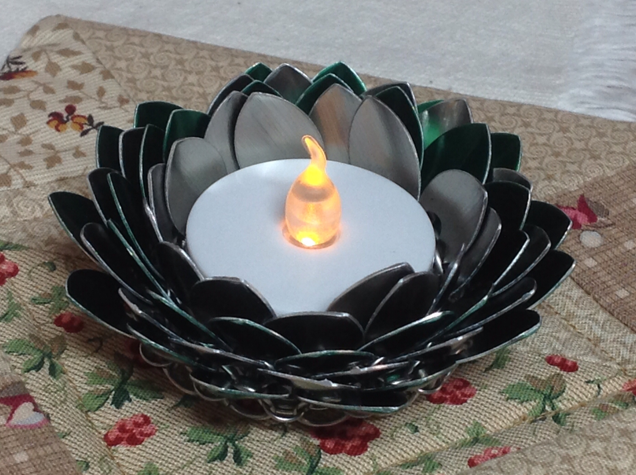 Scalemaille tealight candle holder.